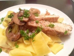 Chicken with Wine, Shallots and Mushrooms